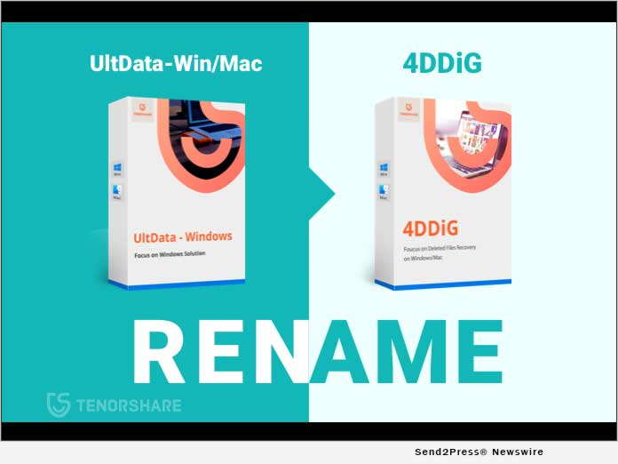Tenorshare Renames its UltData-Windows/Mac Data Recovery to 4DDiG