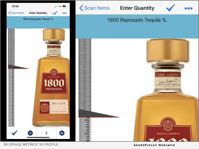 Beverage Metrics' 3D Profile utilizes real bottle images