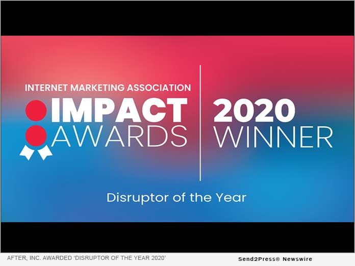 After, Inc. awarded Disruptor of the Year 2020