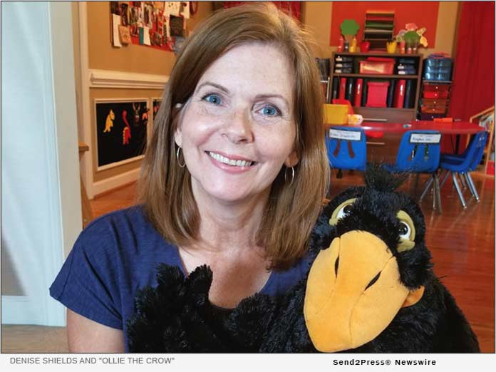 Denise Shields and Ollie the Crow