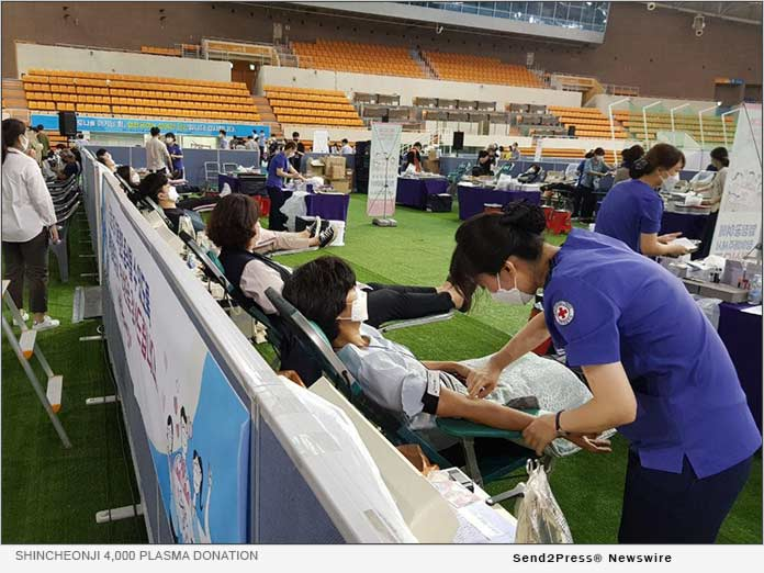 Shincheonji 4,000 Plasma Donation