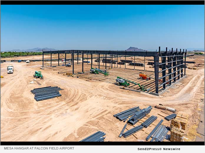 Construction of Mesa Hangar at Falcon Field Airport