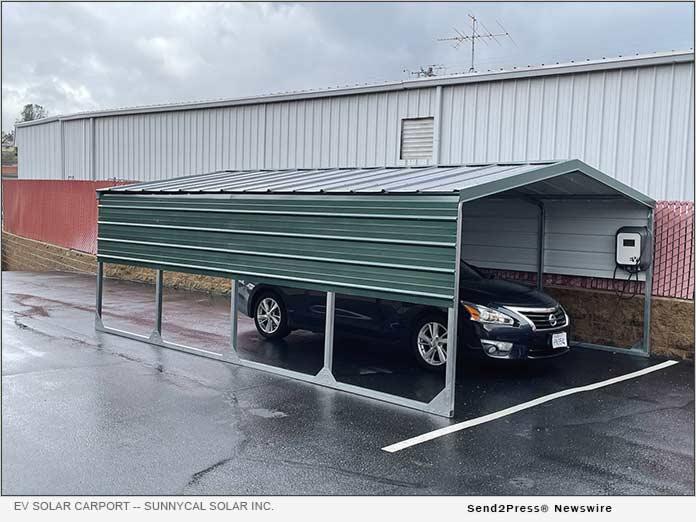 SunnyCal Solar Inc. - EV Solar Charging Carport