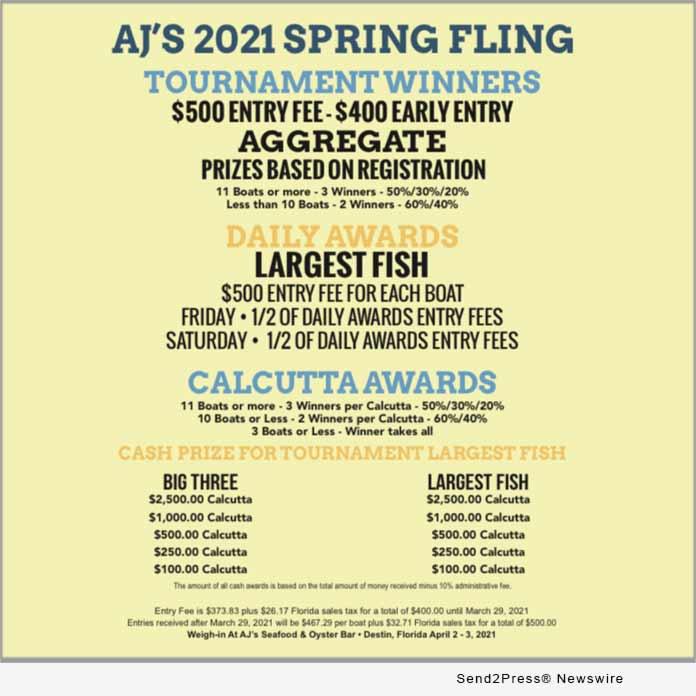 AJ's Spring Fling Winners