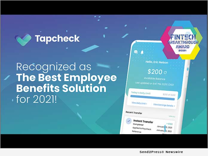 Tapcheck Wins 'Best Employee Benefits Solution'