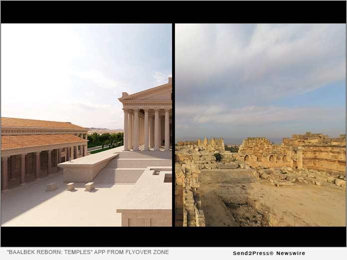 """Baalbek Reborn: Temples"" app from Flyover Zone"