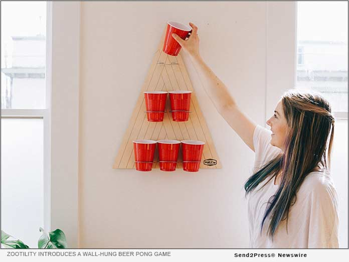 Zootility introduces a wall-hung beer pong game