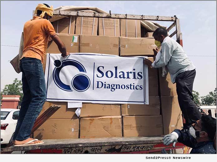 Solaris Diagnostics Donates 1,000 Oxygen Concentrators to India