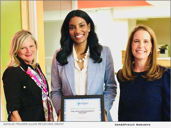 Natalie Frazier Allen receiving Women's Impact Fund Arts and Culture Grant