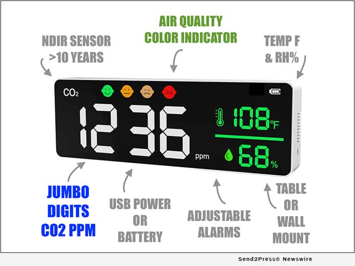 Jumbo Carbon Dioxide Monitor by Forensics Detectors