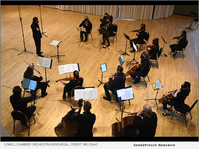 Lowell Chamber Orchestra during dress rehearsal. Photo credit: Wei Zhao