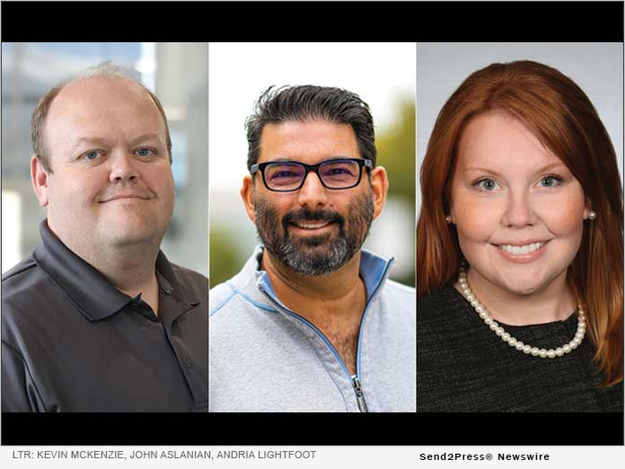 LTR: Kevin McKenzie, John Aslanian, Andria Lightfoot, CCO