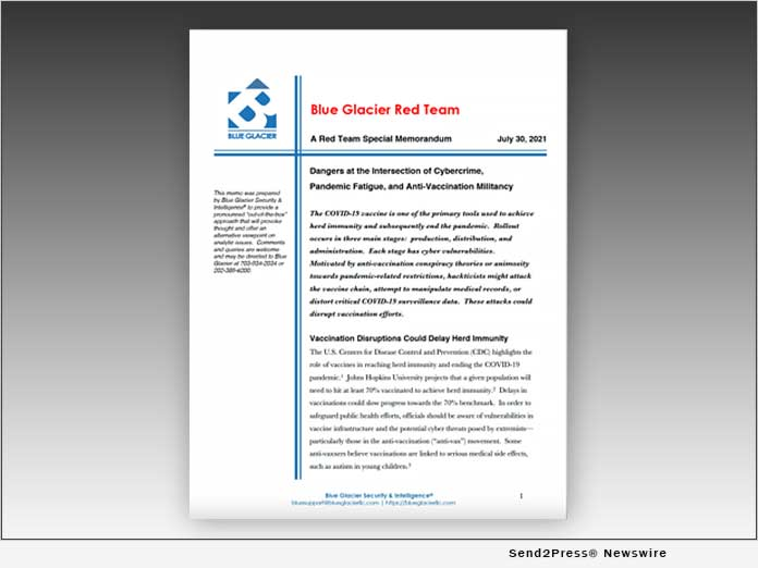 Blue Glacier Publishes 'Red Team' Report on Cybercrime