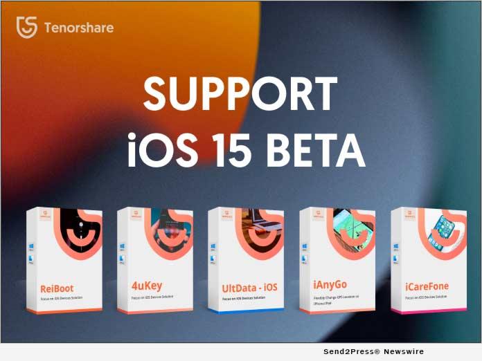 Tenorshare iOS 15 BETA Support