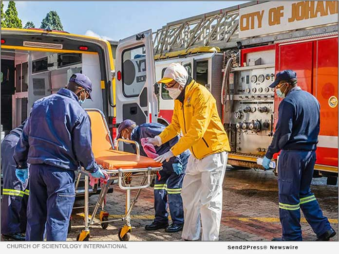South African Scientology Volunteer Ministers work with local fire departments