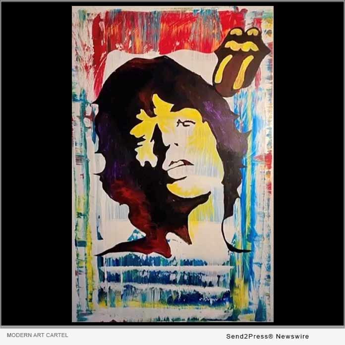 Moves Like Jagger Original Pop Art by Rafael Scasserra, Modern Art Cartel co-founder.
