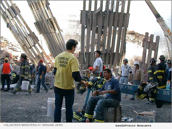 Scientology Volunteer Ministers at Ground Zero New York in the wake of the 9/11 terrorist attacks
