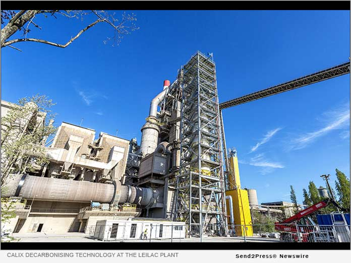 Calix decarbonising technology at the LEILAC plant in Belgium