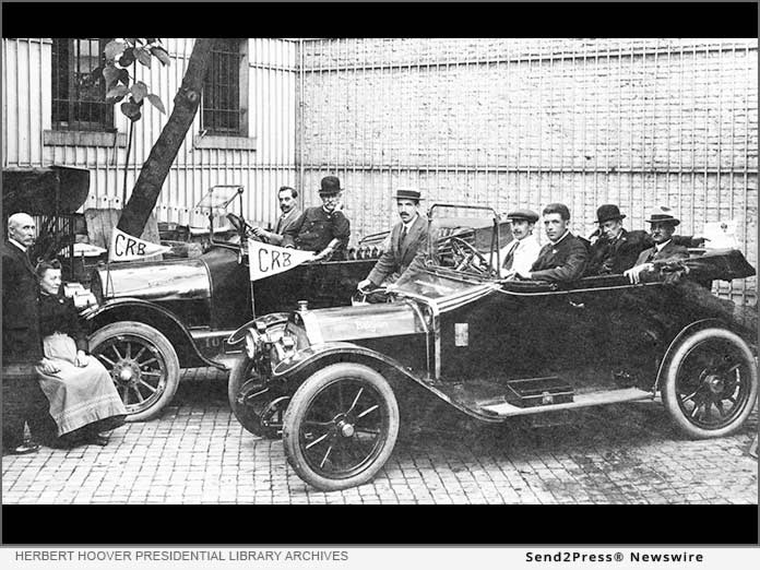 CRB delegates and their Belgian drivers
