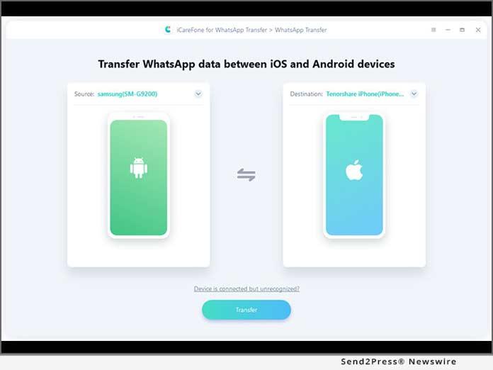 Tenorshare - Transfer WhatsApp to IOS